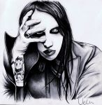 Marilyn Manson by AZIZA-FEMI