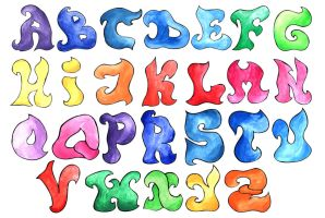 English alphabet by mangorielle