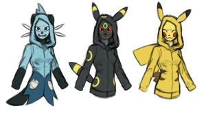 Pokemon Cosplay Sketches by lawlietlk