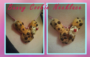 Bunny Cookie Charm Necklace by CrustCringle