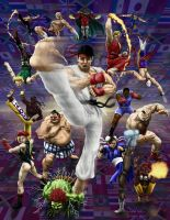 Street Fighter 2 by HarryBuddhaPalm