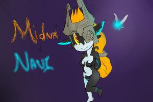 Midna and Navi by ZeldaSonicCat