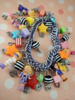 Polly Pocket Limited Edition Charm Bracelet by monsterkookies