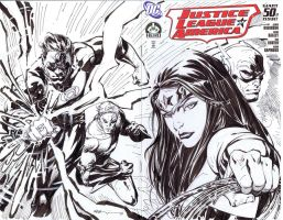 JLA sketch cover by ryanbnjmn