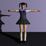 Xiaoyu School Outfit 3D Model by Akhdanhyder