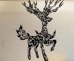 Tribal Xerneas by Gemini-0601