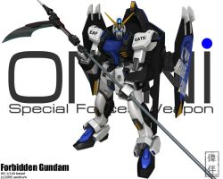 Forbidden Gundam by sandrum