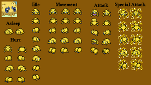 Joltik - PMD custom sprites by PowerCristal