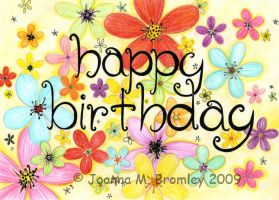 Flower Explosion_B Day Card by JoannaBromley