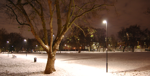Night Time Snow in London Town by Daishine