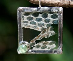 Skin of Snake Square Pendant by mermaidencreations