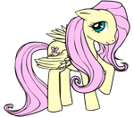 Fluttershy Lineart Colored by x-stephiesaur-rawr-x