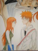 Orihime and Ichigo 2 by NeoAngeliqueAbyss