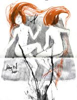 011/ Long Red Hair by Acidea