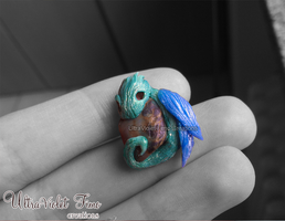 Polymer Clay - Tiny Dragon by Crystarbor