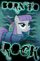 Poster: Maud Pie, Born to Rock by drawponies