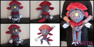 Weavile Pokemon Plush by Miss-Zeldette