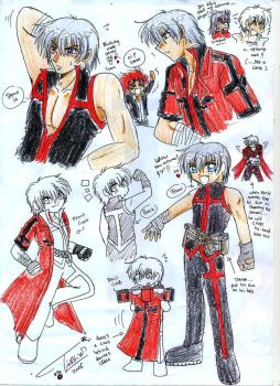 New Costume For Dante +Sketch+ by Tc-Chan