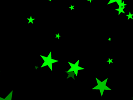 MMD Falling Green Stars DL by ChestNutScoop
