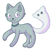 GhostCat Adoptable [CLOSED] by adoptjuice