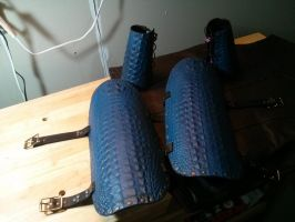 Dragon scale bracers and greaves by valral