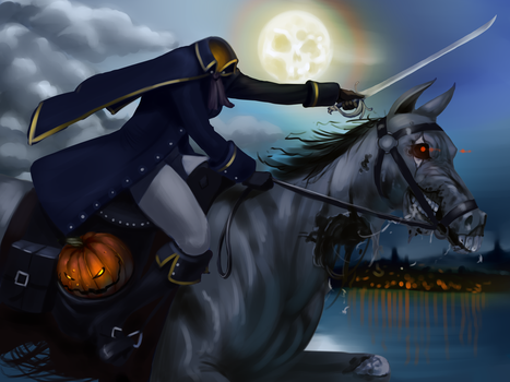 Headless Horsewoman Sketch Painting Thingy by RoninDude