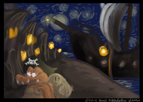 When the night falls by Ribbedebie