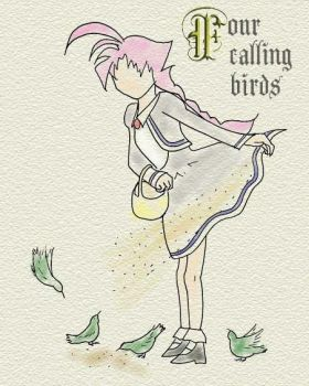 Ahiru Calling Birds by vvoltaire