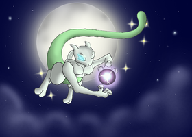 Shinning Mewtwo by CosmicSprinkles