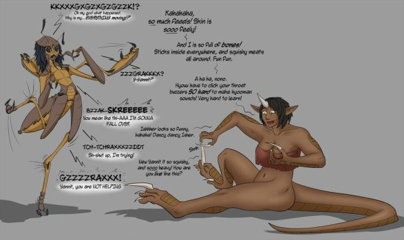 Inexplicable Isher and Yannit species swap by Valsalia