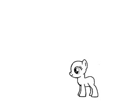 MLp basic baby pony template by bloostormbrony