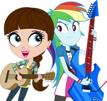 Blythe Baxter and Rainbow Dash by ImperfectXIII