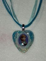 Disney's Frozen Anna Resin Pendant by TashaAkaTachi