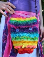 Rainbow Crochet Bag by Faeriegem