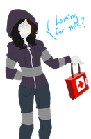 Hunter has obtained the health kit! by FlickersAndWhispers