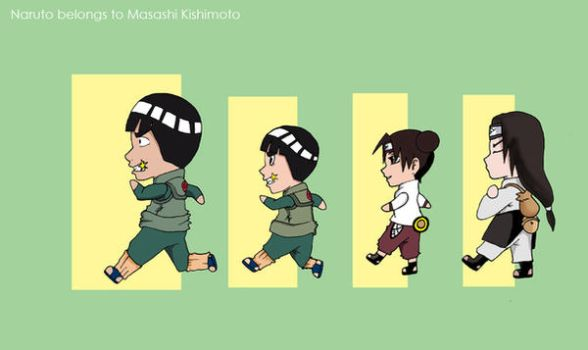 Chibi Gai Team by darkgal666