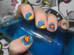 Superman Nails by killerblue73