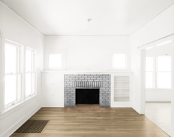 Empty Room - Two Rooms - Gray Fireplace - Light Br by Quryous