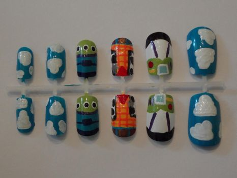 Toy Story Nail Art by OMG-itz-J3551K4