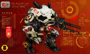 Shinseng Industries D.E.M.O.N. Project - PANDA by Katase6626