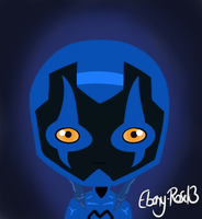 Blue Beetle Chibi by Ebony-Rose13