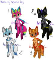 cutie fox adoptables by Rikka-red