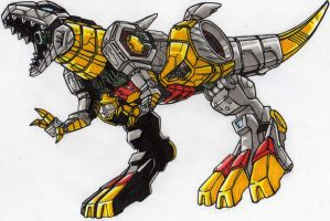 LINKMASTER GRIMLOCK alt mode... GRRR!!! by kishiaku