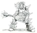 Barbarian Sketch (Slaughtercross, 1) by PhillipTobias