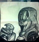 Tali and Garrus tote by Armadria
