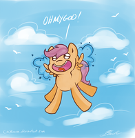 MLP - Scootaloo flying is magic by caycowa