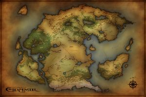 Commission - ToO - World Map by jocarra
