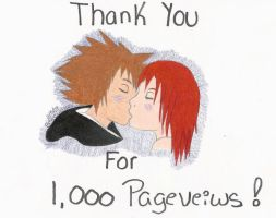 Thanx for 1,000 Pageviews by Sorasgirl24