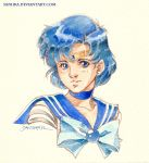 Sailor Mercury Vignette by saniika