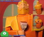 King Harkinian Papercraft by Vincentmrl